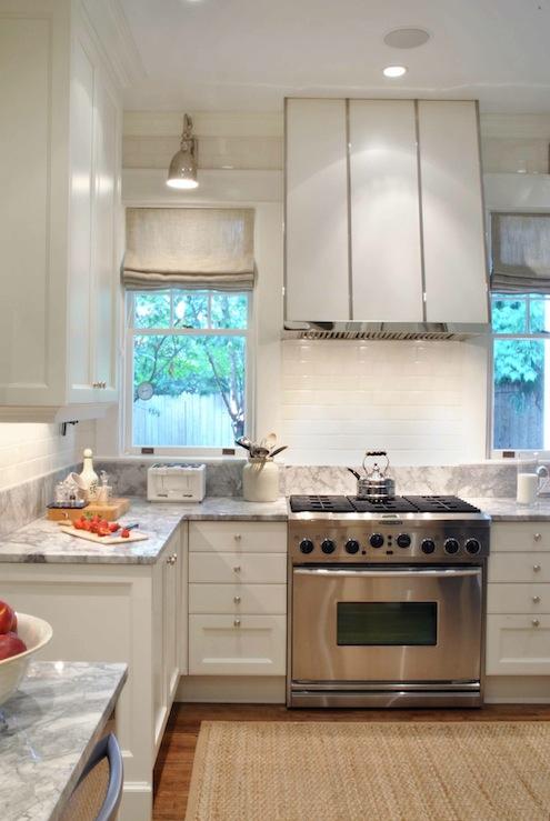 White Kitchen Hood Transitional Kitchen Design Galleria
