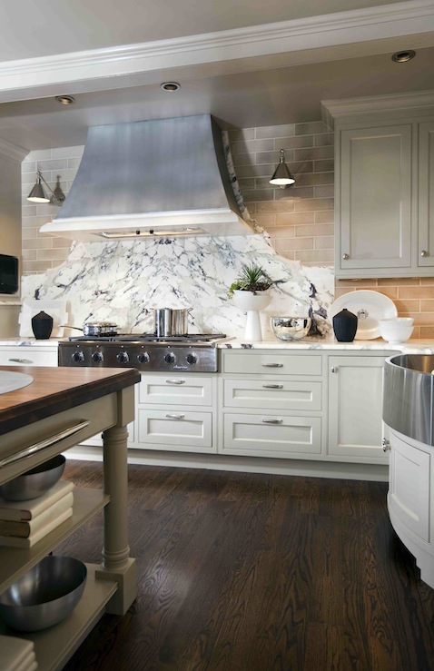 Curved Backsplash Transitional Kitchen Design Galleria