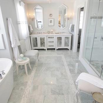 Mirrored Double Vanity, Transitional, bathroom, Sarah Richardson Design