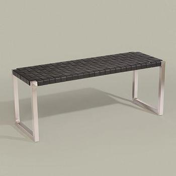 ethanallen.com, woven leather bench, ethan allen, furniture, interior design