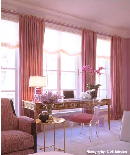 Pink Curtains Design Ideas
