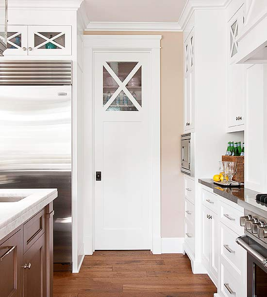 Pantry With Pocket Door