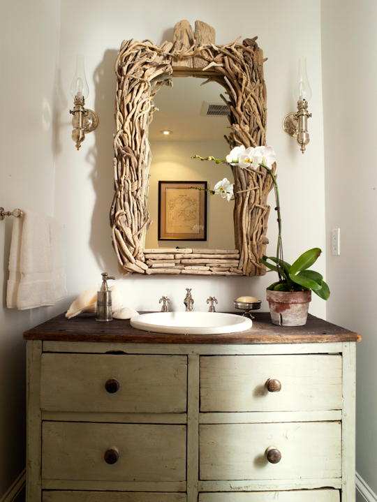 Repurposed Double Bathroom Vanity Design Ideas