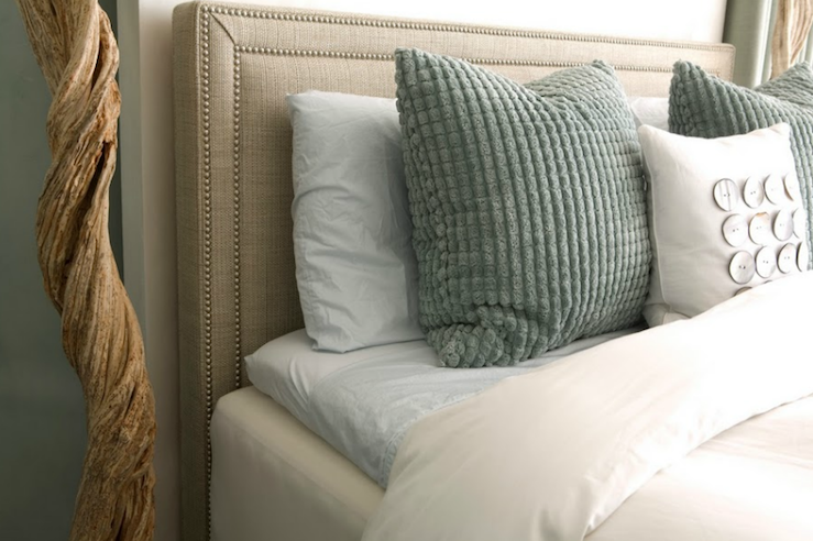 Nailhead Headboard view full size - Linen Headboard Design Ideas