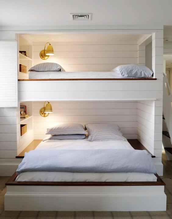 Built In Bunk Beds   Cottage   boy's room   Orrick and Company