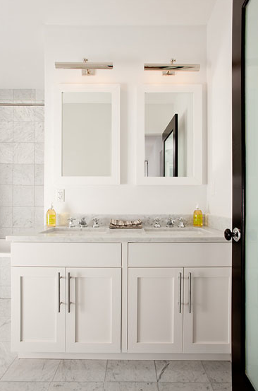 Restoration Hardware Hutton Double Washstand Transitional Bathroom Cameron Macneil Designer