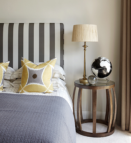 Yellow and Gray Bedroom Contemporary bedroom Kim Stephen