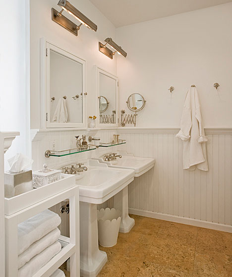 cork floor cottage bathroom the brooklyn home company