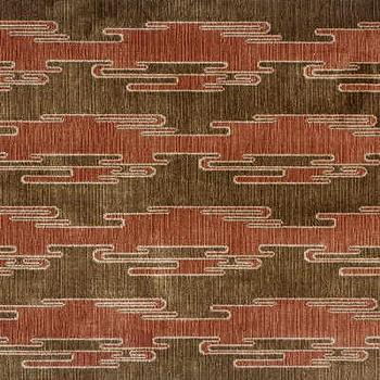 Sora Velvet, Rust/Mocha Indoor Upholstery Fabric, Fabric Copia