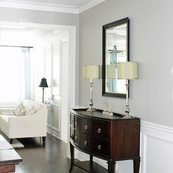 Revere Pewter Pictures, Transitional, dining room, Benjamin Moore Revere Pewter, AM Dolce Vita