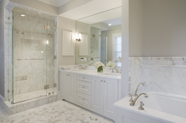 Marble bathroom design traditional bathroom dean for Custom bathrooms