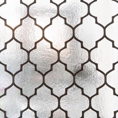 Moroccan Flock Foil Wallpaper Black 139 00 Brocade Home