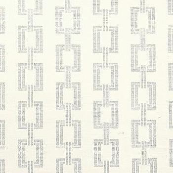 DecoratorsBest, Detail1, PJ 5161, Chain Link, Metallic Silver on Ivory Manila Hemp, Wallpaper, DecoratorsBest