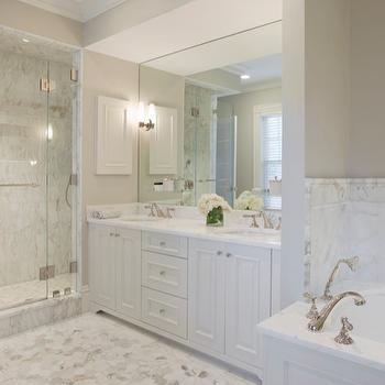 White Master Bathroom Design Ideas