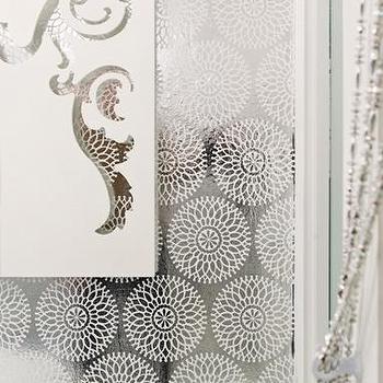 circle foil wallpaper, white print, $9.00 : brocade home