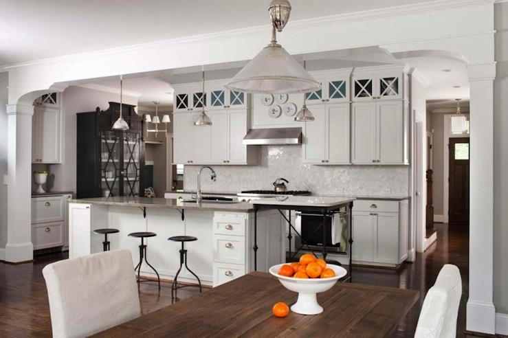 Light Gray KItchen Cabinets  Contemporary  kitchen  TerraCotta