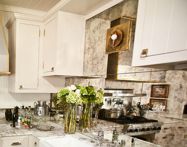 mirror backsplash contemporary kitchen andrea may