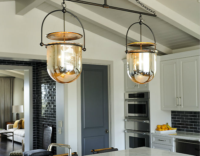 Smokebell Pendant Transitional Kitchen Urban