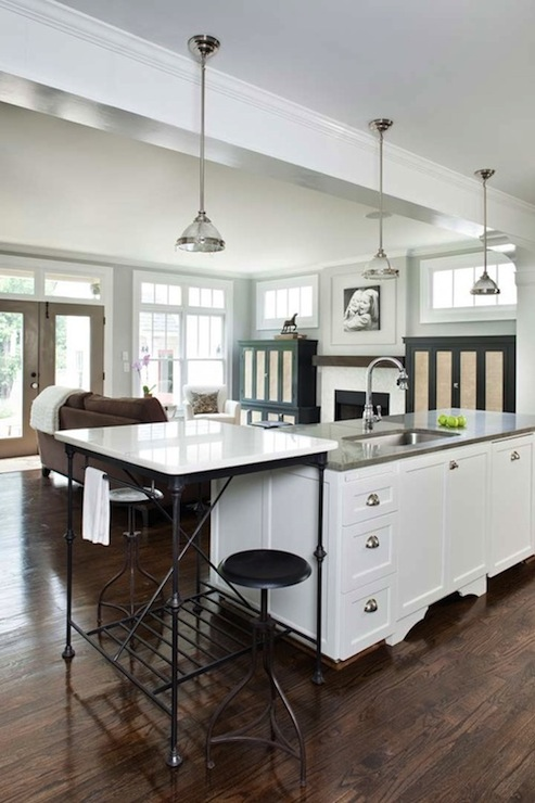 French Kitchen Island Transitional Kitchen