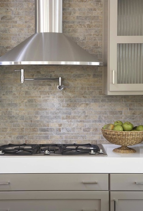 gray stone backsplash design decor photos pictures