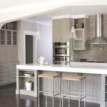 Taupe Kitchen, Contemporary, kitchen, Sherwin Williams Pavestone Gray, TerraCotta Properties