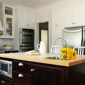 Kitchen Island with Butcher Block Countertop, Transitional, kitchen, TerraCotta Properties