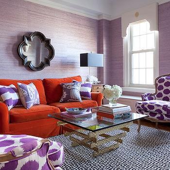 Quatrefoil Mirror, Eclectic, living room, Lilly Bunn Interior