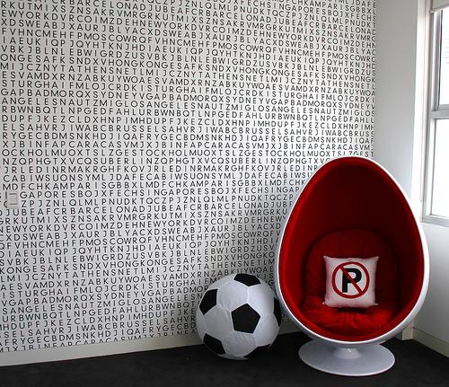 Alphabet Wallpaper Contemporary Boy S Room