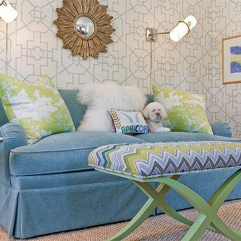 Thibaut Spring Bamboo Lattice Wallpaper, Contemporary, girl's room, Katie Rosenfeld Design