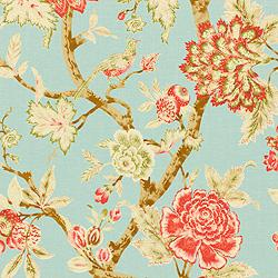 Thibaut Cypress, Pondicherry, Fabric, Aqua