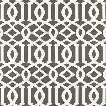 DecoratorsBest, Detail1, Sch 5003361, Imperial Trellis, Charcoal, Wallpaper, DecoratorsBest