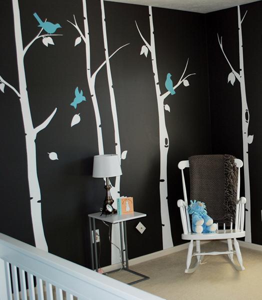 Painted Nursery Walls Contemporary Nursery