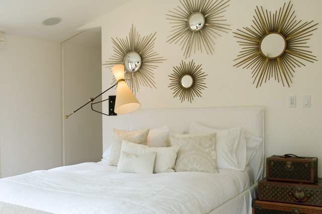 White Sunburst Mirror Design Ideas