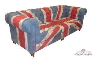 Liv-Chic Furniture Union Jack Chesterfield Sofa
