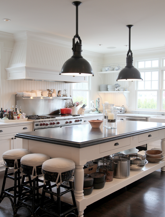 Black Industrial Kitchen Pendant Design Ideas - Black kitchen pendants