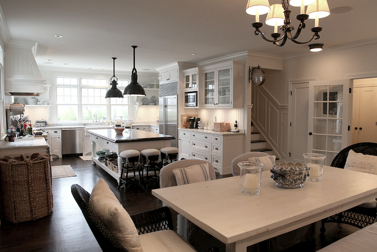 White Farmhouse Dining Table View Full Size