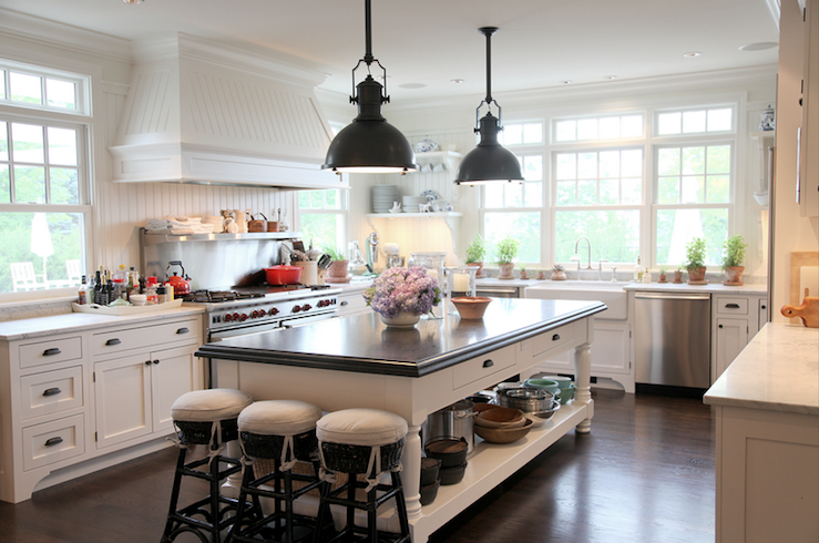 Oil Rubbed Bronze Pendants Transitional Kitchen
