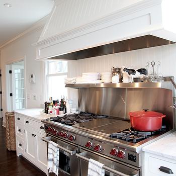 Beadboard Kitchen Hood, Transitional, kitchen, Angie Gren Interiors