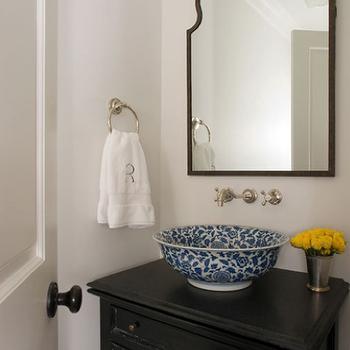 Arch Frameless Mirror Traditional Bathroom