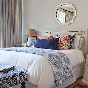 Serena & Lily Octavia Headboard, Transitional, bedroom, Jenny Wolf Interiors