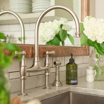 Satin Nickel Bridge Faucet