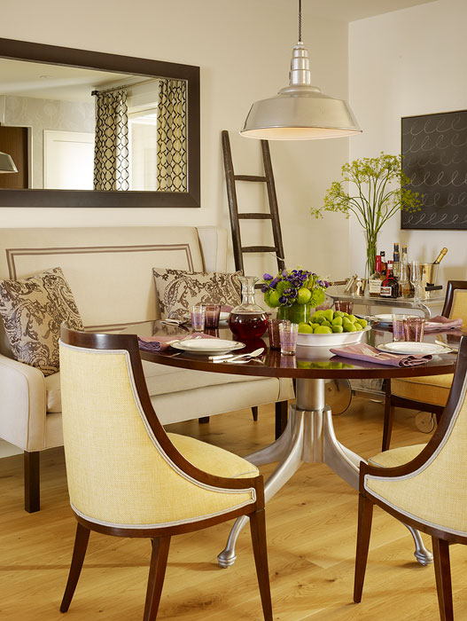 yellow dining chairs contemporary dining room jute interior design