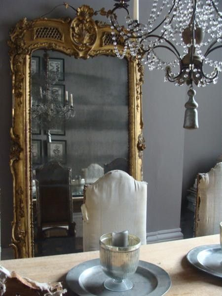Baroque Floor Mirror - French - dining room - Alex MacArthur