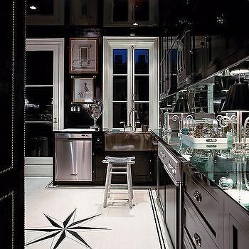 Mirror Backsplash, Contemporary, kitchen, Miles Redd