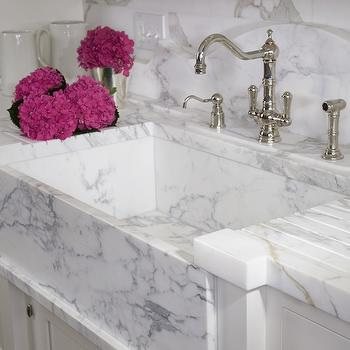 White Marble Countertops Design Ideas