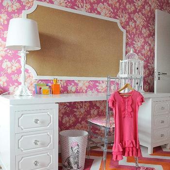 Hollywood Regency Desk, Contemporary, girl's room, Maria Barros