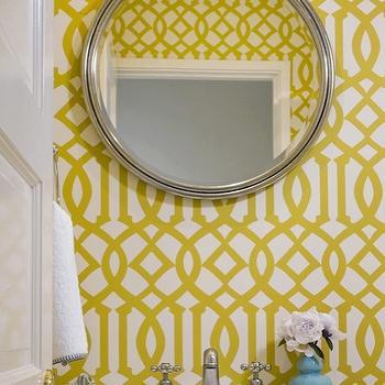 Kelly Wearstler Wallpaper, Contemporary, bathroom, Jute interior Design