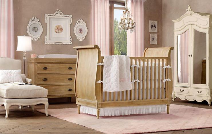 Restoration hardware baby child weathered wood room - Cunas para bebes recien nacidos ...