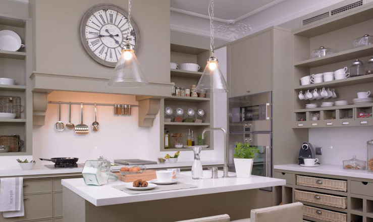 Taupe Kitchen Transitional Kitchen Deulonder