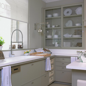 Taupe Kitchen Cabinets, Transitional, kitchen, Deulonder